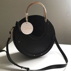 Chloe leather and suede medium Pixie bag